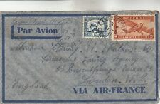 Indochine Airmail Cover via Air-France