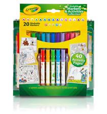 Crayola Kids Coloring Drawing Activity Art Set Book with 20 Markers SAMEDAY SHIP