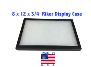 8 x 12 x 3/4 Riker Display Case Box for Collectibles Jewelry Arrowheads &More