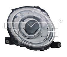TYC Right Passenger Side Halogen Headlight for Fiat 500 2012-2019 Models