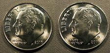 2016 P D Roosevelt Dime Set 1 P & 1 D Brilliant Uncirculated Roll Coin's