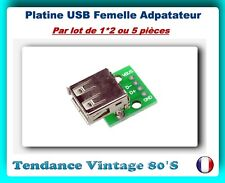 *** 1*2 OU 5 PLATINES USB FEMELLE A DIP ADAPTATEUR 4 PIN 2.54MM ***