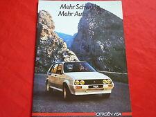 Citroen visa club 11re 14trs GTI 17d 17rd folleto de 1985