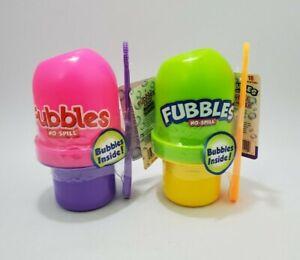 Fubbles No-Spill Bubble Tumblers Kids Bubble Toy 3.2 Fl oz Lot of 2