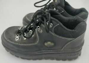 VTG Skechers Platform Chunky Shoes Size 7.5 Jammers Ankle Black 2632 Boots 90s