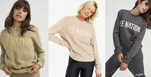 *Pe Nation**Womens Crew Neck Fortify Sweatshirt Relaxed Fit Active Jumper Tops