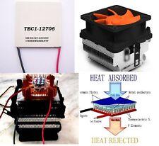 Thermoelectric Cooler Peltier 92W 15.4V 6A TEC-12706  + Heatsink Set