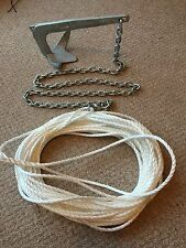 2KG BRUCE style  boat anchor kit, 3m 6mm chain 100ft 8mm rope PLUS bag