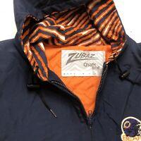 Chalk Line Zubaz Jacket Coat Full Zip Rare HTF EUC Chicago Bears 90s Men XL Vtg