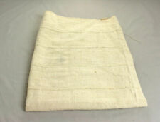 African Handwoven Mud Cloth Bambara Fabric (Plain White )