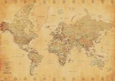 Pyramid World Map - Vintage Style (poster 100x140 Cm)
