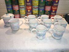Starbucks Rosanna 8 mugs /cups, cream & sugar set Vintage Italian Hand Painted