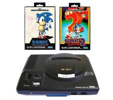 ## SEGA Mega Drive 1 Konsole + Sonic 1 + Sonic 2 + Pad + Strom- & TV-Kabel ##