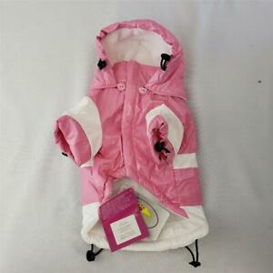 "= Pet Life PVC Fashion Waterproof Rain Jacket Pink XS 8"" R5PWXS NEW With Flaw"