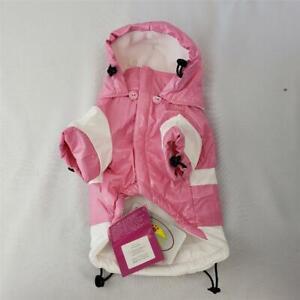 "= Pet Life PVC Fashion Waterproof Rain Jacket Pink XS 8"" R5PWXS NEW With Flaw"