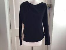 Dries Van Noten Black Beige Cotton Sweatshirt Size Small