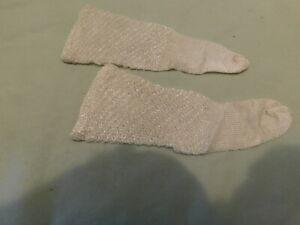 VTG off White Doll Socks