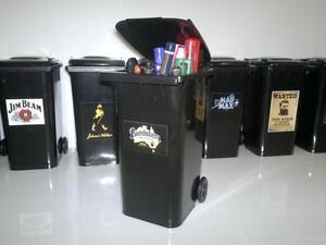 Bundaberg Rum Bundy Sulo Wheelie Garbage Bin School Pencil case gift
