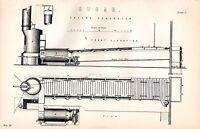 1880 Aufdruck ~ Zucker Production FRYER'S Concretor Vorne Elevation