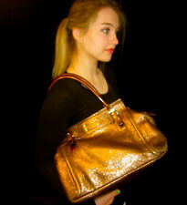 RARE KATE SPADE CHELTENHAM ADDISON Shoulder Bag Shiny Metallic Leather BRONZE