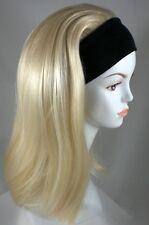 Classic Elastic Headband Hairpiece w/Long Straight Hair 3/4 Fall with Black Band