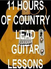 11 Hrs. Country Lead Guitar Lessons on 1 DVD ROM Video Computer Disk. AWESOME!