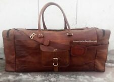 Leather Bag Holdall Duffle Travel Weekend Gym Sports Cabin Large Luggage New