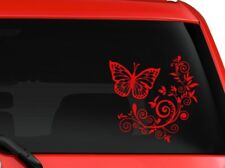 """Butterfly and Flower nice design car truck SUV window laptop 6"""" RED"""