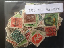 100 Different German States - Bavaria Stamp Collection