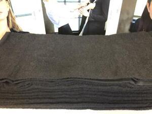 BLACK; Bleach Resistant (Vat dyed) HAIRDRESSING TOWELS