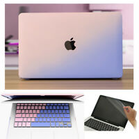 Double-Color Hard Case Keyboard Skin Screen Skin For Macbook Air Pro 11 12 13 15