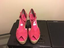 womens shoes size 10 Fuschia Bettye Muller Spain slightly used wedge