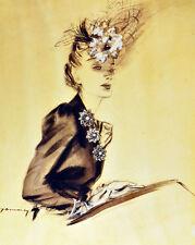 "20x30""Decor Canvas.Interior design.Art fashion woman 1940s drawing.6287"