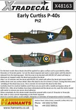 XTRADECAL 1/48 CURTISS P-40B Tomahawk Decalcomanie parte 2 # 48163