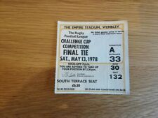 1978 Challenge Cup Final Match Ticket - Leeds v St Helens
