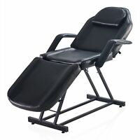 Adjustable Facial Massage Bed Table Chair Beauty Spa Salon Tattoo Beauty Black