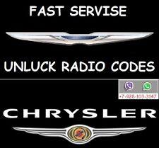 Chrysler Jeep Mitsubishi Radio Power Code T00 AM Unlock Code Pin Service
