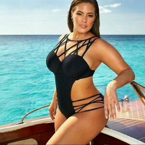 Ashley Graham For Swimsuits For All 14 Monokini XL/1X + Victorias Secret Torrid