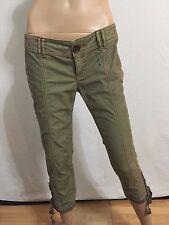 NEW! Free People Khaki Green Capri Pants Size 6