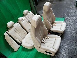 BMW X5 F15 M SPORT SEATS LEATHER MEMORY HEATED FRONT REAR 5 SEATER 2013-2017