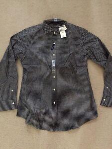 *BRAND NEW*Men Polo Ralph Lauren Gingham Cotton Stretch Black/Gray Sz Medium