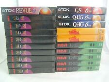 Mixed Lot of 20 New Sealed T-120 6 Hour Blank VHS Cassette Tapes RCA TDK Kodak