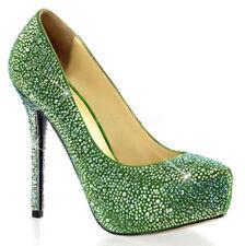 40 Scarpe da donna verde con tacco altissimo (oltre 11 cm)