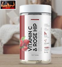 Prozis Vitamin C 1000 + Rosehip 360 tabs - Vitamina C + Rosa Canina.  360 cpr