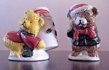 Ceramic Season's Collection Holiday Bears Salt and Pepper Shaker