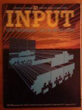 Input. Vintage Computer Magazine. Issue 25. Spectrum, C64, Dragon, Electron, BBC