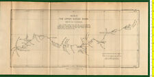 #41973 England 1896 Vintage map, Upper Kuyuni River [Guiana].Royal Geog.Society