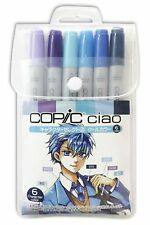 COPIC CIAO Markers 6 Set Character Select 2 -Cool Colors- Manga w/Tracking