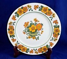 Villeroy & Boch COTTAGE (yellow,orange flowers, green band) Salad Plate 8 1/4""