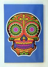 Blue Psychedelic Day of the Dead Canvas Print!